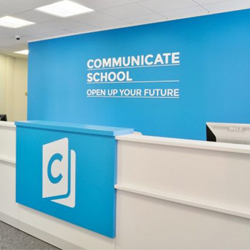 Communicat School Reception Acrylic Signs