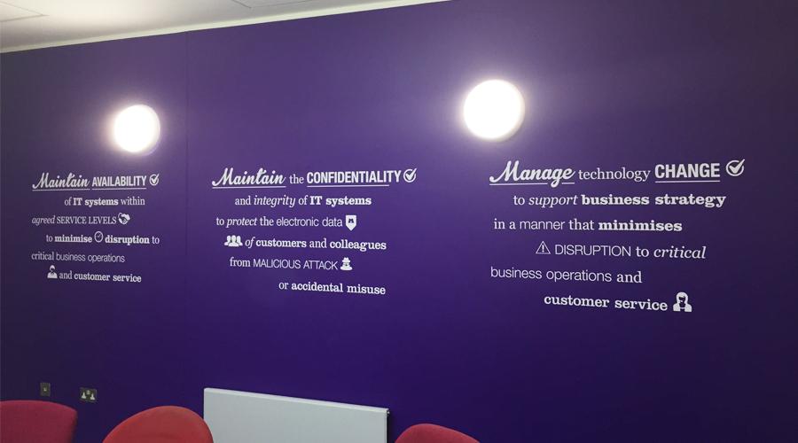 Company Values Wall Graphic