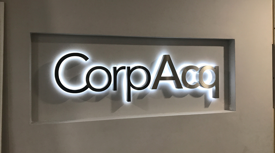CorpAcq illuminated sign