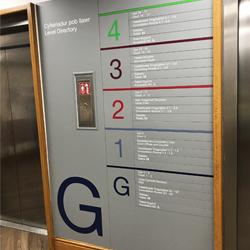 Slat signage system