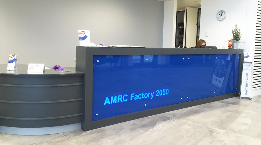 Illuminated Reception Sign - AMRC