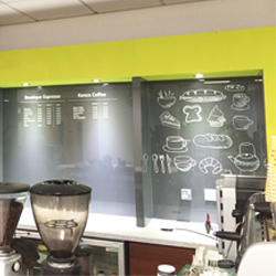 Cafeteria menu graphics