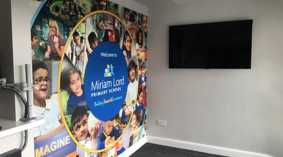 Miriam Lord School Reception Wall Mural