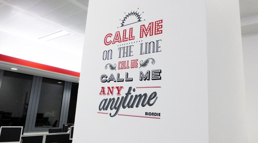 Office column vinyl quote