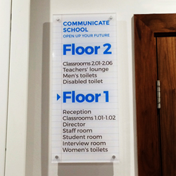 Floor Directory Acrylic Plaque