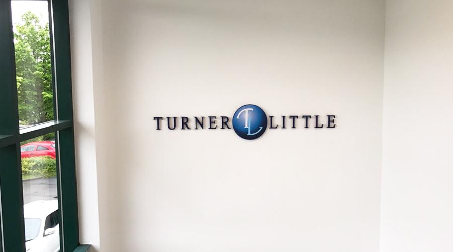 Turner and Little 3D lettering signage