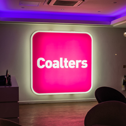 Coalters illuminates sign