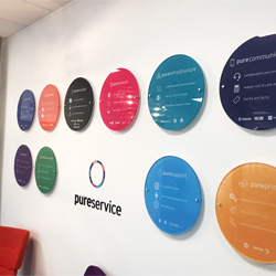 10mm Circular Acrylic Plaques Display