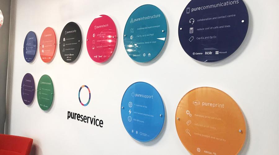 10mm circular acrylic plaques with prints - wall display