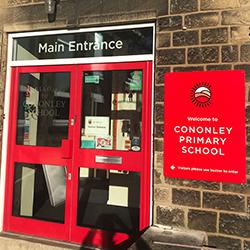 Cononley School Entrance Signage