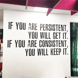 Persistence Wall Quote