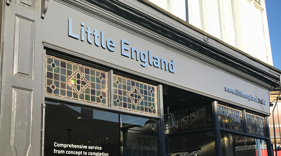 Little England Shop Signs - Stainless Steel