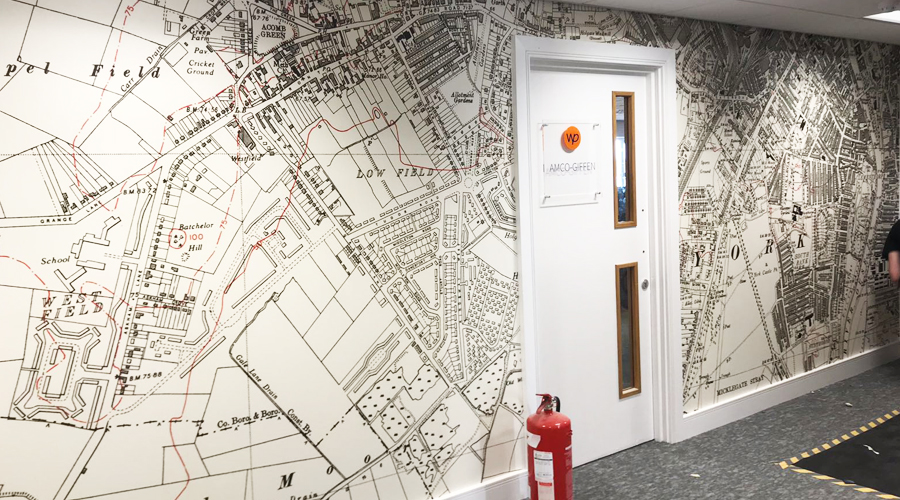 Old Style Map Wall Mural York