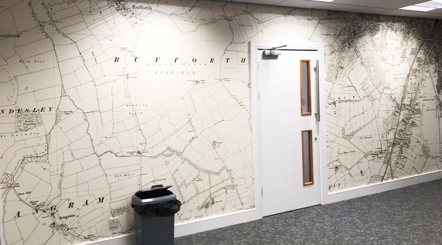 Old Style Map Wall Mural
