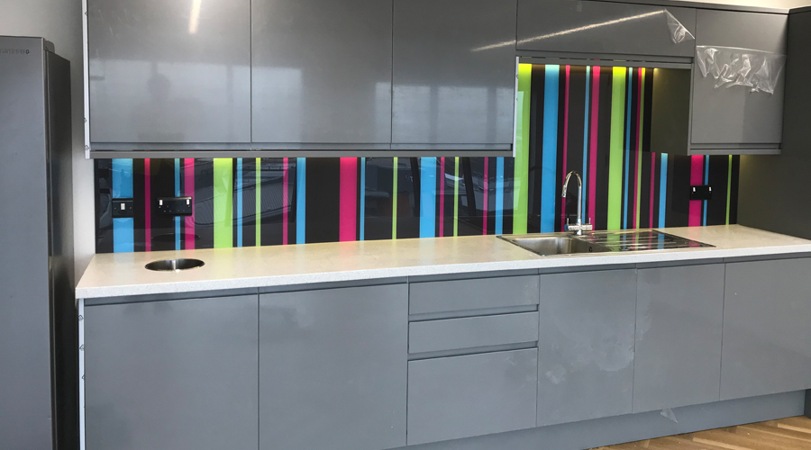 Print onto glass splashback