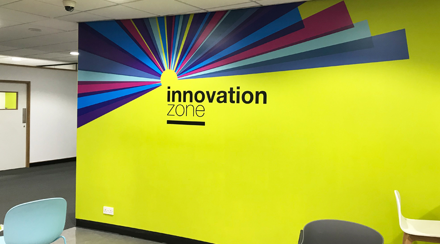 Vinyl Wall Graphics - Innovation Zone