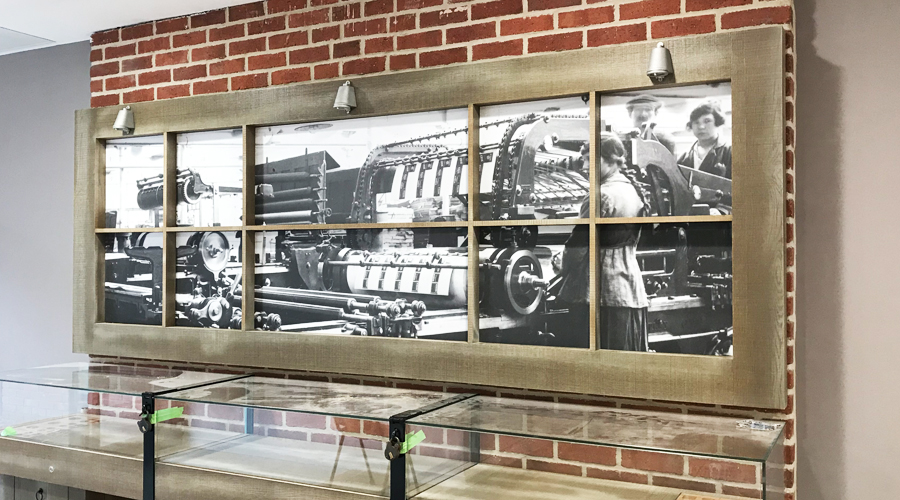 Wall print across frames