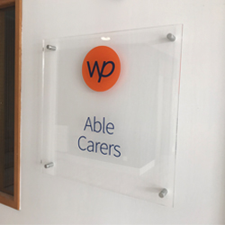 Able Carers Clear Acrylic Plaque