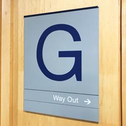 Ground Floor Directional Slat Sign