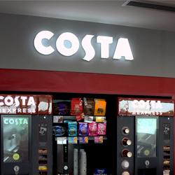 3D Illuminated Costa Coffee Sign