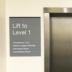 Lift Level Slat Signage