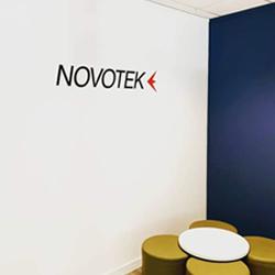Novotek Vinyl Wall Logo