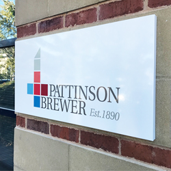Pattison Brewer 3D Signtray Sign with Vinyl Graphics