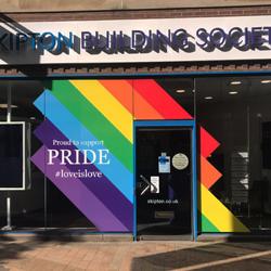 Leeds Pride Skipton Building Society Window Graphics