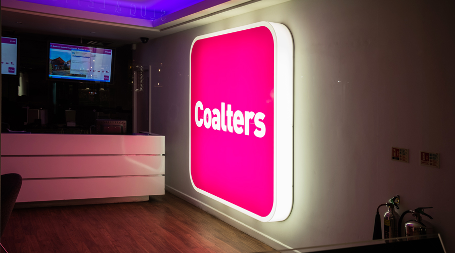 coalters lightbox sign